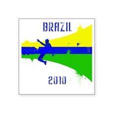 "Brazil copy Square Sticker 3"" x 3"""