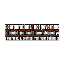 Its-Corporations-Not-Government  Car Magnet 10 x 3