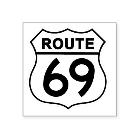 """Route69 Square Sticker 3"""" x 3"""""""