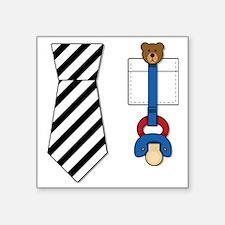"baby_tie_shirt Square Sticker 3"" x 3"""