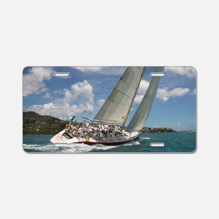 23X35_poster_template_horz_ Aluminum License Plate