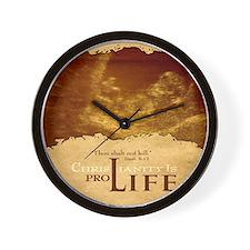 Bag_ProLife-Christianity Wall Clock