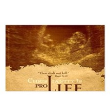Bag_ProLife-Christianity Postcards (Package of 8)