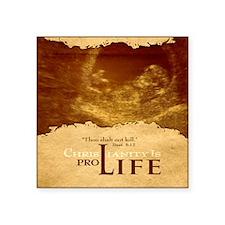 "Bag_ProLife-Christianity Square Sticker 3"" x 3"""