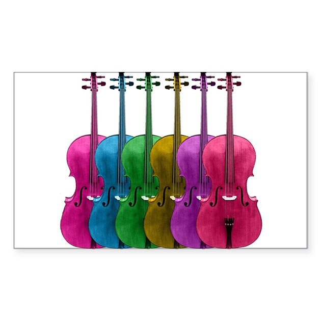 Colorful Cello Decal b...