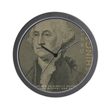 Bag_HeadQuote_Washington Wall Clock