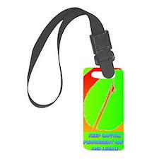 KEEP CAPITAL PUNISHMENT(oval por Luggage Tag