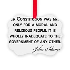 John-Adams-Constitution-(white-sh Ornament