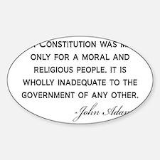 John-Adams-Constitution-(white-shir Decal