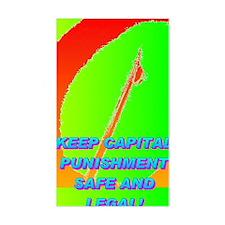 KEEP CAPITAL PUNISHMENT(mini p Decal