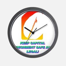 KEEP CAPITAL PUNISHMENT(white).gif Wall Clock