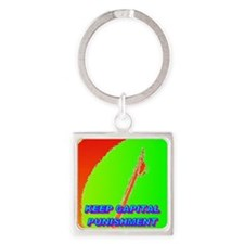 KEEP CAPITAL PUNISHMENT(small post Square Keychain
