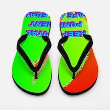 KEEP CAPITAL PUNISHMENT(small poster) Flip Flops