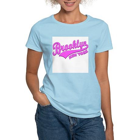 Brooklyn New York Women's Pink T-Shirt