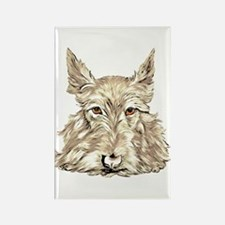Wheaten Scottish Terrier Rectangle Magnet