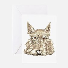 Wheaten Scottish Terrier Greeting Cards (Package o
