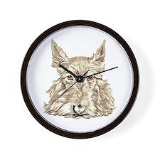 Wheaten Scottish Terrier Wall Clock