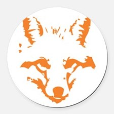 Fox Round Car Magnet