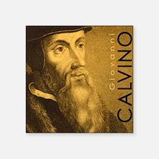 """Bag_Head_Calvino Square Sticker 3"""" x 3"""""""