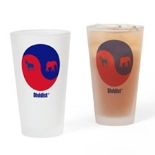 Dividist logo with registered trade Drinking Glass