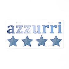 azzurri metalic Aluminum License Plate
