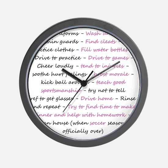 asoccermomsday-back Wall Clock