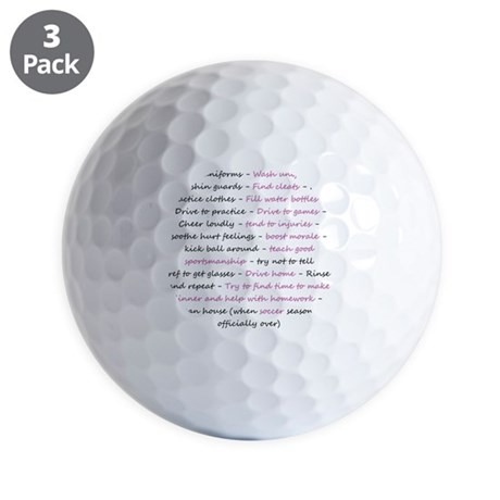 asoccermomsday-back Golf Balls