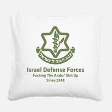 idf.blackl Square Canvas Pillow