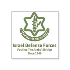 "idf.blackl Square Sticker 3"" x 3"""