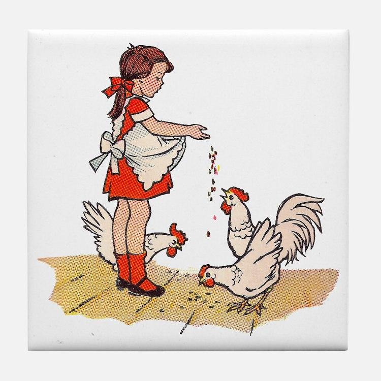 Chicken Tile Coaster