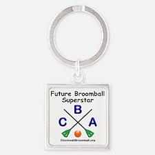 3-Bib Square Keychain