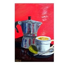 Cuban Coffe + Lime Red Po Postcards (Package of 8)