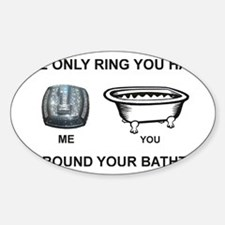 bathtub Sticker (Oval)