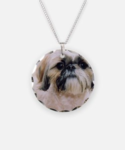 Shih Tzu Necklace Circle Charm