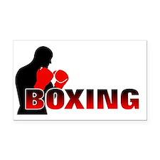 boxing Rectangle Car Magnet