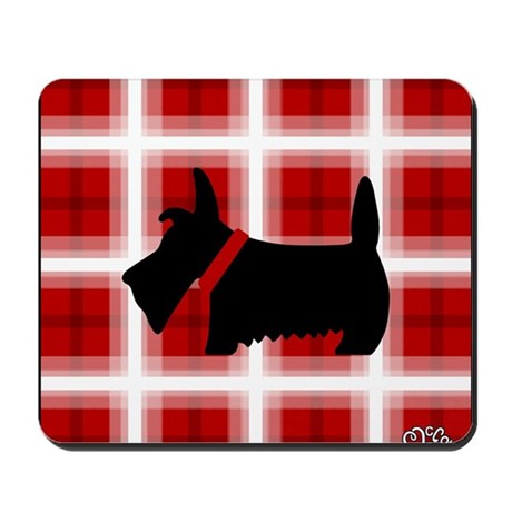 Scottie Red White copy Mousepad