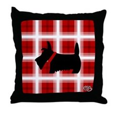 Scottie Red White copy Throw Pillow