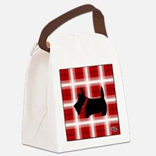 Scottie Red White copy Canvas Lunch Bag
