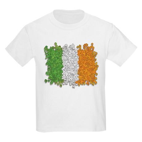 Shamrocks Irish Flag Kids T-Shirt