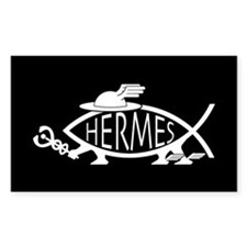 Hermes Fish Rectangle Decal