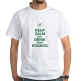 Keep calm and drink egg nog Mens White T-shirts