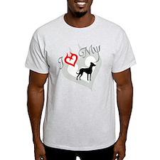Louisiana Catahoula Leopard D Ash Grey T-Shirt