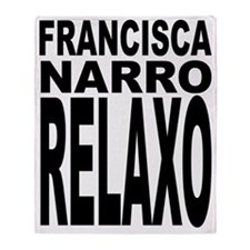 Frankie Say Relax Latin Throw Blanket