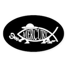 Mercury Fish Oval Decal