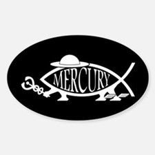 Mercury Fish Oval Decal