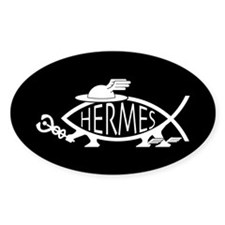 Hermes Fish Oval Decal