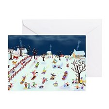 Maple Street Hill Greeting Card