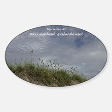 Lesson47DunesCard Sticker (Oval)