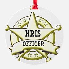 HRIS Officer Badge Ornament