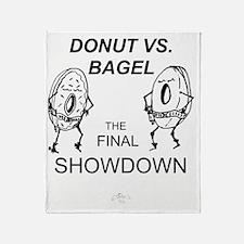 Donut_vs_Bagel_ME_flat Throw Blanket